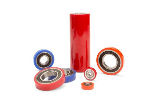 Rubber coated bearings