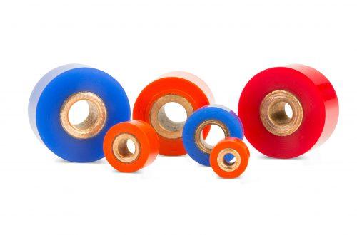 Non-marking idler wheels