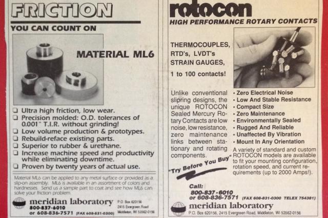 Meridian Laboratory, ROTOCON, ML6, Contact Information