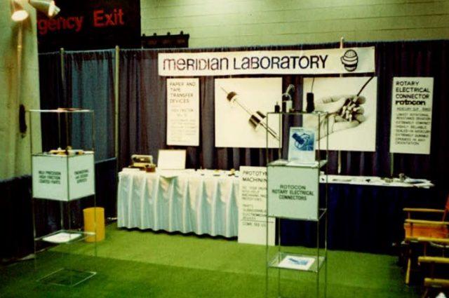 Meridian Laboratory, Conact Meridian Laboratory, Tradeshow Booth