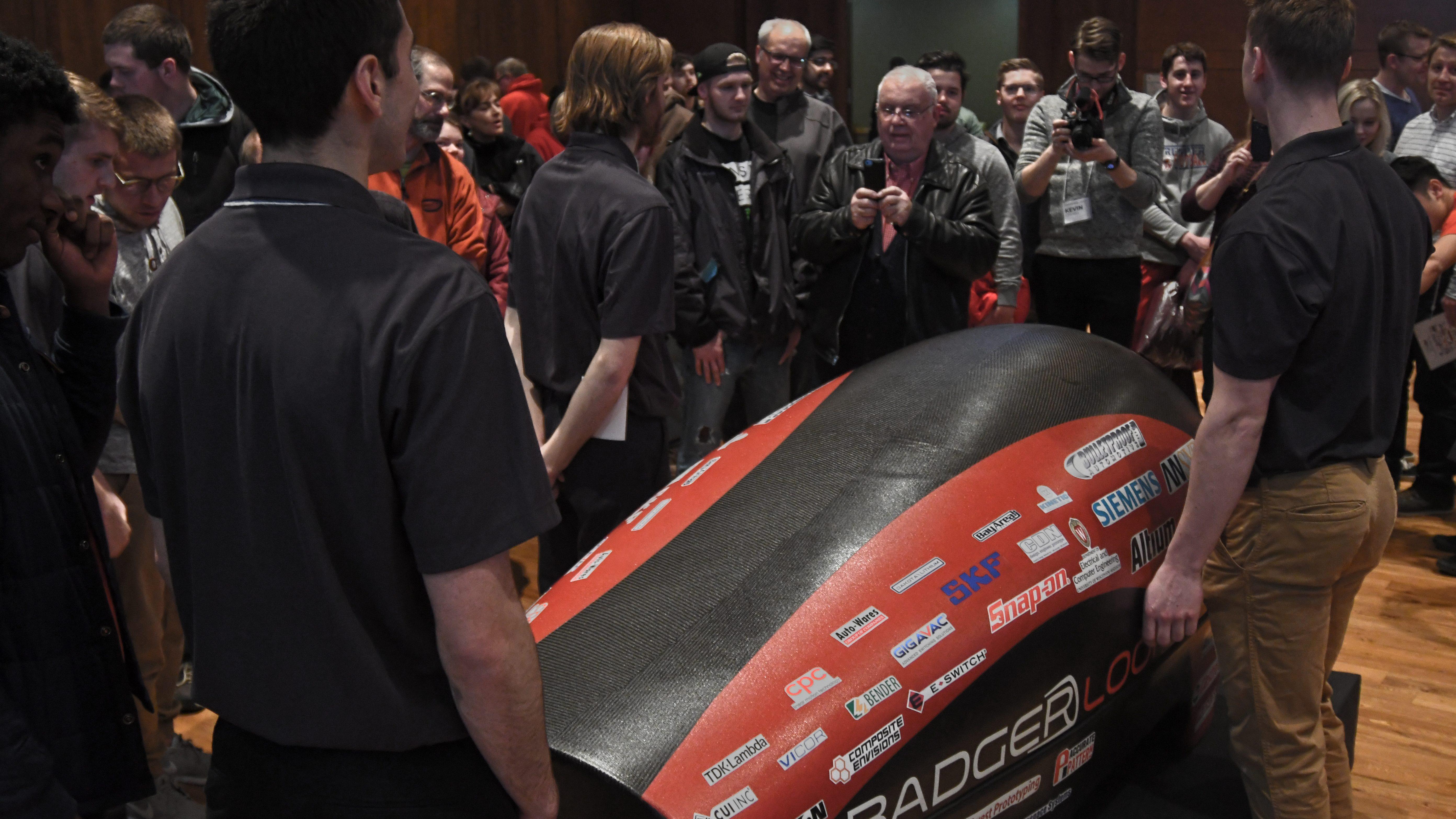 Badgerloop Hyperloop Unveiling Ceremony