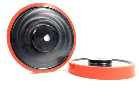 Orange Poly Coated Wheel
